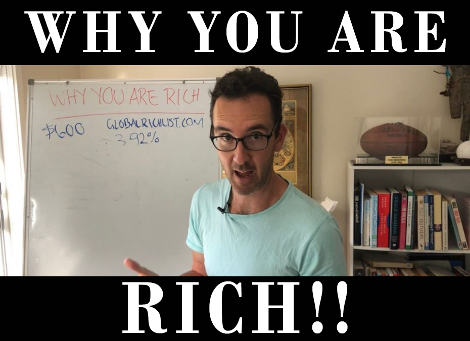 Why you are rich - even if you're on the Dole