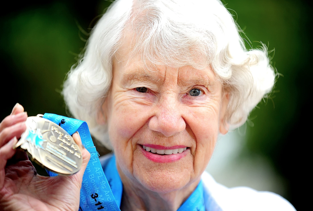 Heather Lee OAM - the Fastest Female Walker over 90 on the PLANET!